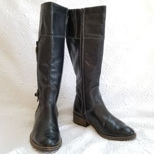 Eric Michael black high ALL Leather Boots
